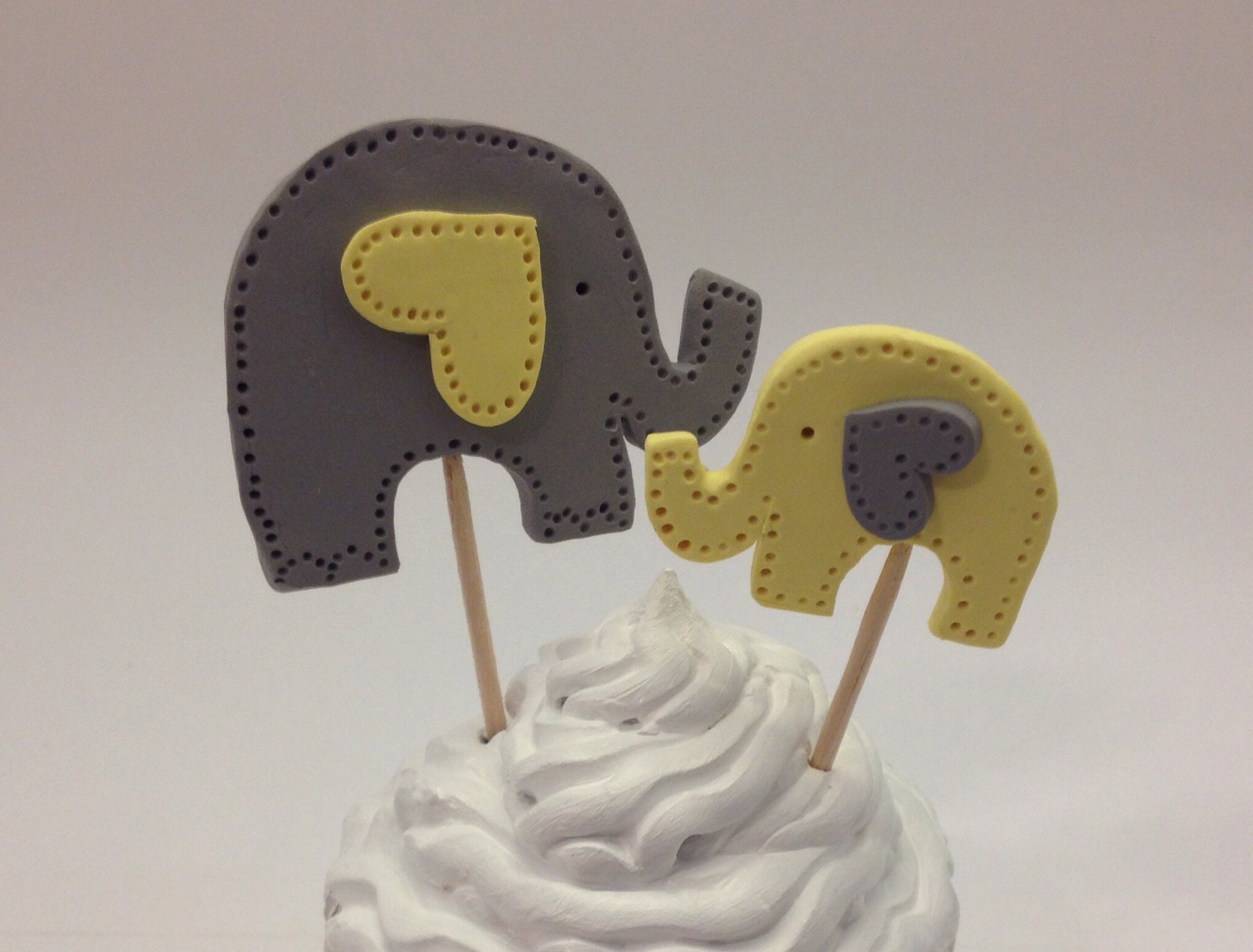 DIY Elephant Baby Shower Cake Toppers